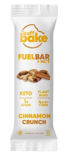 Buff Bake Fuel Bar Keto Protein Bars   Vegan, Low Carb, Low Sugar, Non Dairy, Gluten Free   12g Plant Based Protein…