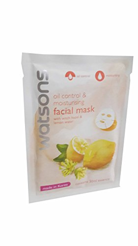 [4 Mask sheets of Watsons Oil Control & Moisturising Facial Mask with Witch Hazel & Lemon Water. Made in Korea. (30 Ml Essence/] (Doctor Watson Costume)