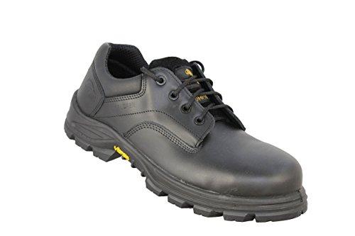 Trucker Crosser S3HRO SRC Zapatos de trabajo Trabajo Guantes plano negro Negro - negro