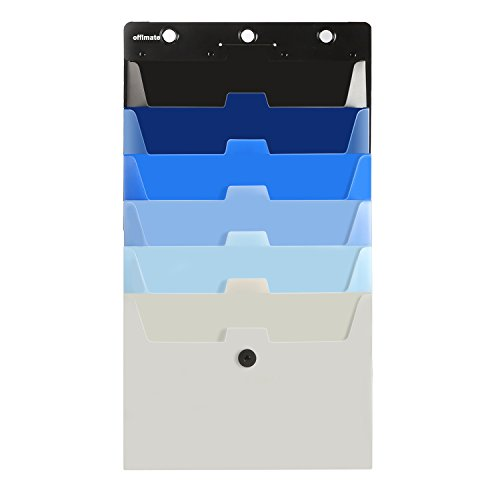 Cascading Wall Organizer,Hanging Wall Organizer,Hanging File Folder Organizer,Storage Pocket Chart, 6 Pockets, Letter Size, Multi-Color Pockets