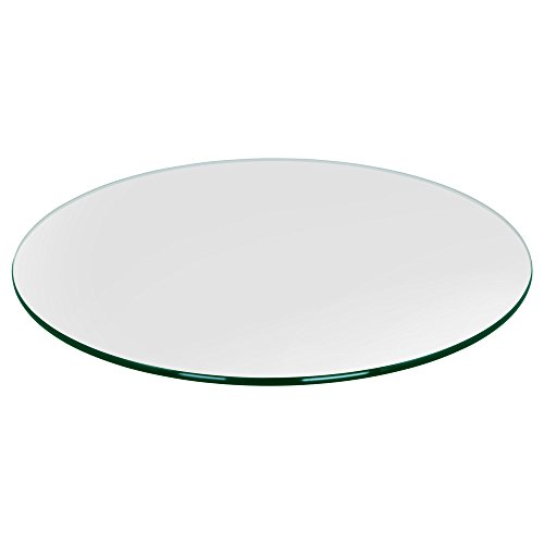 TroySys Glass Table Top, Pencil Polish Edge, Tempered Glass, 48
