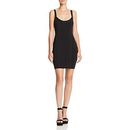 GUESS Womens Mirage Bandage Mini Cocktail Dress Black M ()