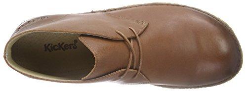 KickersHOBBOBO - Zapatos de cordones, Mujer Blanco (114)