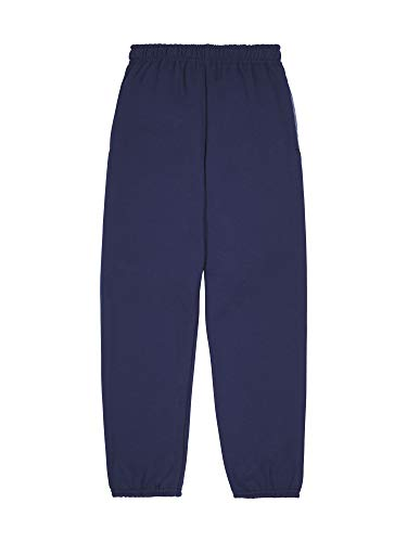 Fruit of the Loom Boys' Fleece Elastic Bottom Sweatpant, Ghost Times Square Navy Stripe, 2X-Large