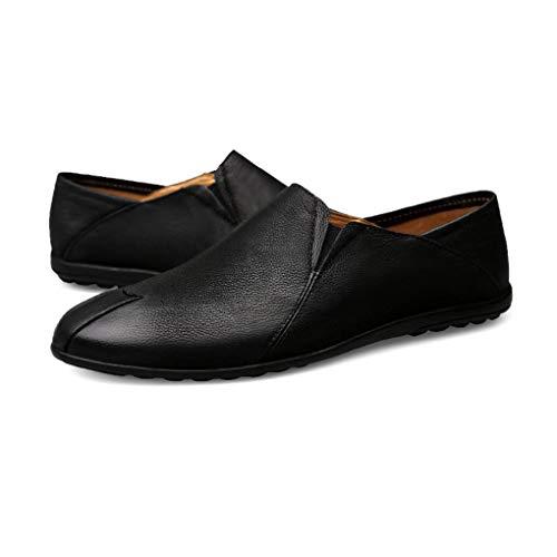Fall 2018 Moda Otoño Loafers Oscuro Perezosos Zapatos De Spring Negro Comfort Conducción Invierno Yaxuan amp; Slip marrón Negro Hombre Leather ons XfAwtq