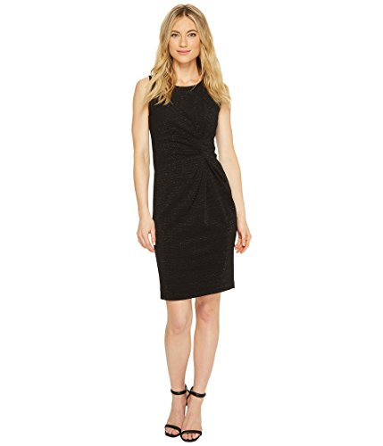 Tahari by ASL Women's Gathered Sheath Dress Black 8