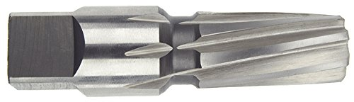 Spiral Reamer (Morse Cutting Tools 36084 Taper Pipe Reamer, High-Speed Steel, Bright Finish, Left Hand Spiral, 1/2