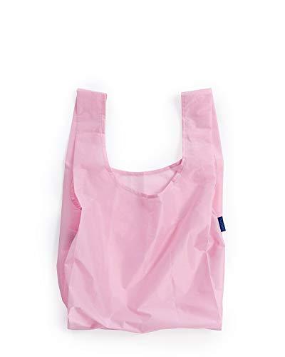 BAGGU Standard Reusable Shopping Bag, Eco-friendly Ripstop Nylon Foldable Grocery Tote, Cotton Candy