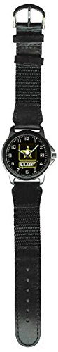 Aqua Force Army Frontier Watch with 38mm Face and Nylon/Leather - Frontier Watch Chrome