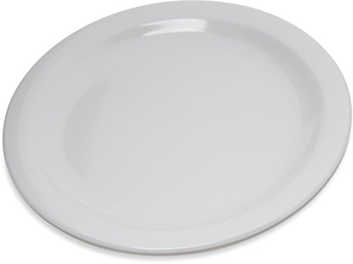 "Carlisle 4350302 Dallas Ware Melamine Salad Plate, 7.19"" Diameter x 0.74"" Height, White (Case of 48)"