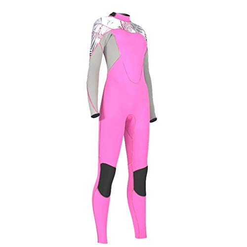 YEZIJIN Women's Stretch Full Body Wetsuit Surf Swim Diving Steamer Wetsuit top Long/Short Sleeve Pink by Yezijin_Swimsuit (Image #2)