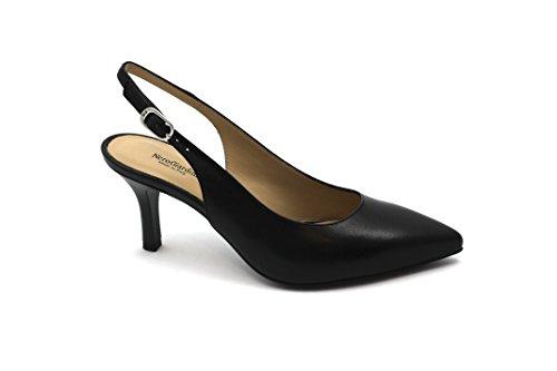 Nero Giardini Black GARDENS 05.520 Schwarze Frauen Schuhe dcollet Fersenriemen Spitze Nero
