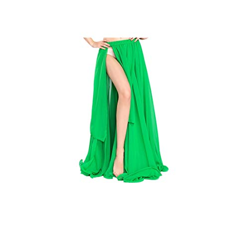 Bellydancing Skirts Belly Dance Skirt Costume Training Dress Or Performance 6804,Green,One Size -