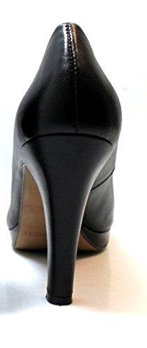 Cafè Noir Spaltung Damen MG225 Heel Cm 10 Leather Schwarz Schwarz