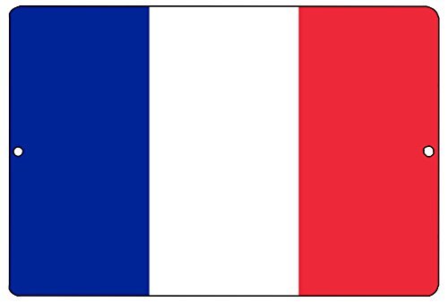 Rogue River Tactical French Flag Metal Tin Sign Wall Decor Man Cave Bar France -