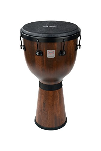Gon Bops MBDJ Mariano Djembe with REMO Black Suede Head by Gon Bops