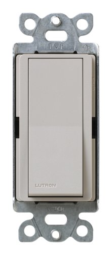 Lutron Claro On/Off Switch, 15-Amp, Single-Pole, SC-1PS-TP, - Satin Lutron Colors