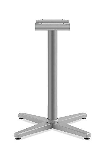 HON HONCT29MXP6N Arrange Seat Height X-Base, Textured Satin Chrome Basyx Round Table Base