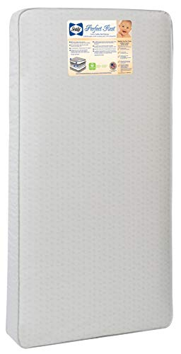 Sealy Perfect Rest Waterproof Toddler & Baby Crib Mattress - 150 Extra Firm Coils, 51.7