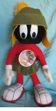 Vintage 1991 Looney Tunes MARVIN THE MARTIAN Posable Plush (1991 Tune)