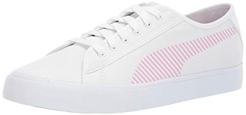 PUMA Men's Bari Sneaker White-Pale Pink, 10.5 M US