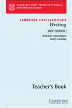 Book Cambridge First Certificate Writing Teacher's book (Cambridge First Certificate Skills)