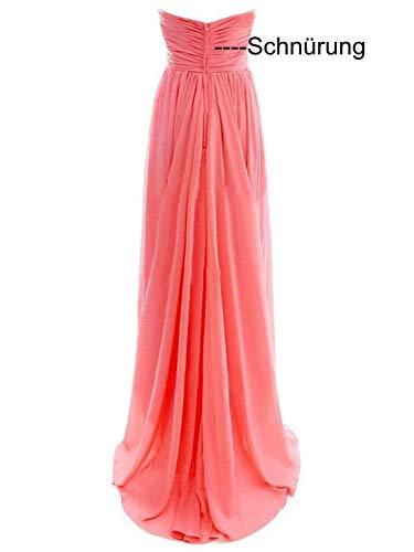 Partykleider Abendkleider Brautjungfernkleider Damen Chiffon Ballkleider Lang Minze Cocktailkleider f7xZ1q