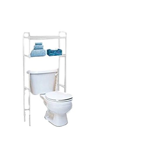 ATS Bathroom Shelving Over Toilet Space Saver Storage Shelves Organizer Free Standing White & eBook by AllTim3Shopping by ATS