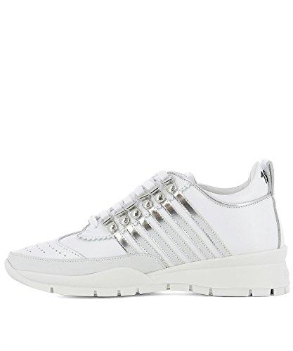 DSQUARED2 Damen SNW010113140068M241 Weiss Leder Sneakers