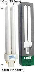 (Case of 20) Double Twin Tube Compact Fluorescent Lamps | F18DDTT/DE/827/G24Q-2 18 Watt Quad 4-Pin 2700K G24Q-2 Base