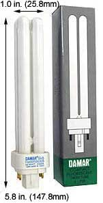 (Case of 30) Double Twin Tube Compact Fluorescent Lamps | F18DDTT/DE/841/G24Q-2 18 Watt Quad 4-Pin 4100K G24Q-2 Base