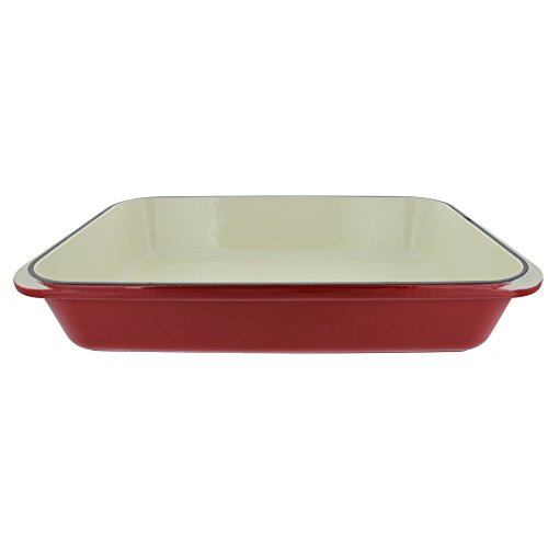 Chasseur 4.25-quart Red French Enameled Cast Iron Rectangular Roaster