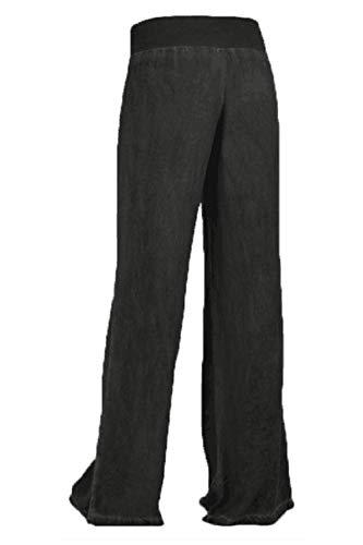 Noir Et Bande Cut Taille vase lastique Femmes Sevozimda Pantalon Palazzo Boot Pantalon Jean Haute xqz4O4ZwX