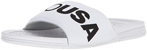 DC Shoes MenS Bolsa SP Slider Sandals Blanco/Negro