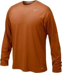 Nike 384408 Legend Dri-Fit Long Sleeve Tee - Desert Orange -