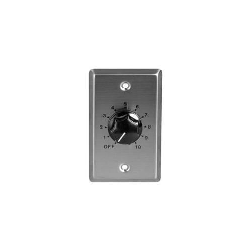 SPECO SPC-WAT10 10W 70/25V Mono Attenuator w/ Wallplate