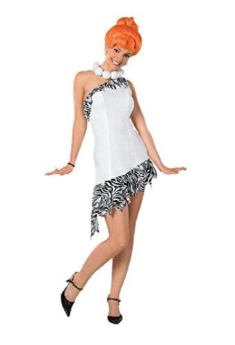 [8eighteen The Flintstones Sassy Wilma Flintstone Adult Halloween Costume] (Sexy Wilma Costumes)