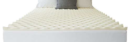 (SIeep Innovations 1.5-inch Reversible Memory Foam Mattress Topper with Air Channels, Made in USA with a 5-year Warranty - California King Size)