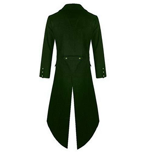 Gotico Verde Formato Frac Giacca Anywow Steampunk Vestito Medievale Vittoriano Più Cappotto Jacquard Abito Mens Epoca 756wZ