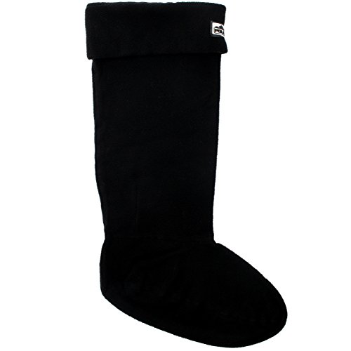 Polar Products Womens Thermal Fleece Welly Wellington Boot Warm Cosy Soft Wellie Socks Black OwvJ1