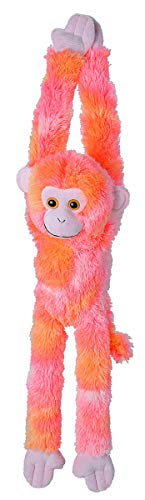 (Wild Republic, Hanging Monkey Plush, Stuffed Animal, Plush Toy, Gifts for Kids, Vibe Pink, 20