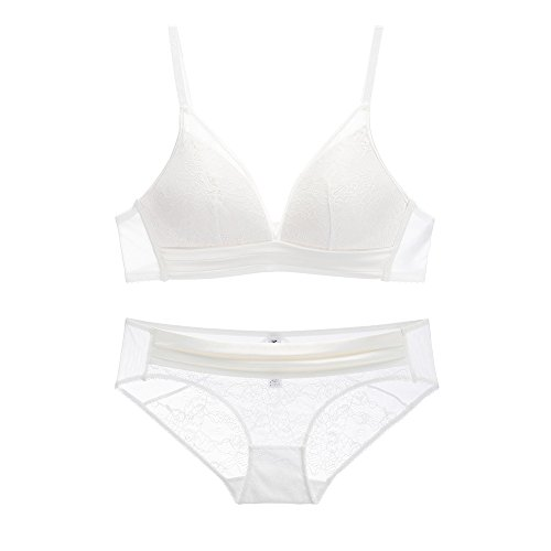 Price comparison product image 2018 Women Sweet Push up Underwire Bra Panty Set Soft Lace Lingerie Set