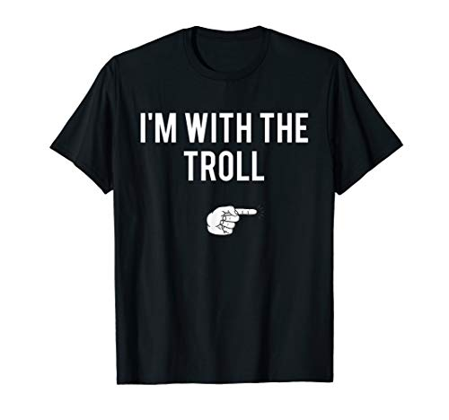 I'm With The Troll Halloween Costume Funny Couples T-Shirt