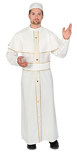 Ultimate Halloween Costume UHC Men's Religious Holy Pope Outfit Catholic Church Theme Fancy Costume, Std (Up To 44) -