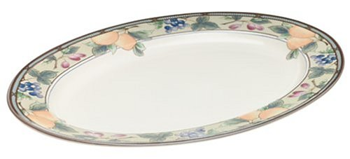 Mikasa Garden Harvest Oval Serving Platter, -