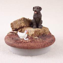 Conversation Concepts Miniature Labrador Retriever Chocolate Candle Topper Tiny One ''A Day on the Farm''