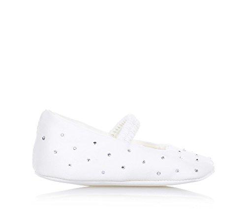 BABY VIP - Ballerine de berceau blanche en tissu, extrêmement confortable et flexible, elle garantit la complete liberté du petit pied, bébé fille