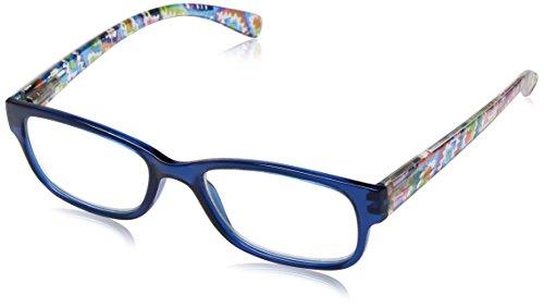 Sight Station Women's Makayla 1016321-100.COM Square Reading Glasses, Navy, - Readerglasses Com