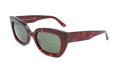 Balenciaga BA0130 Red Havana/Green Logomania Lens One Size