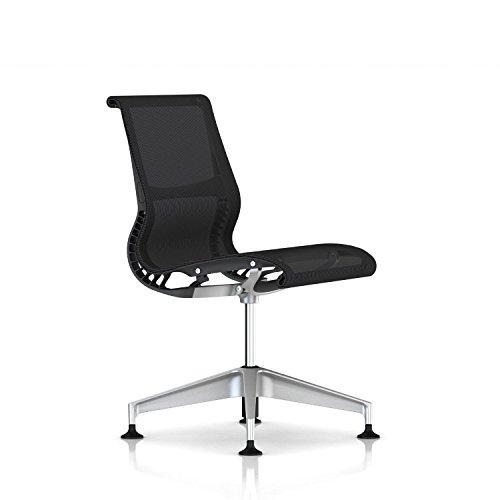 Herman Miller Setu Side Chair: Armless - Slate Grey Frame/H-